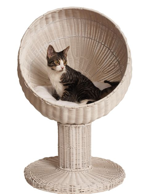kitty bed kitty ball bed white