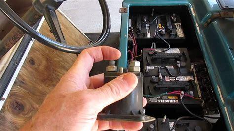 club car electric golf car speed control relays youtube