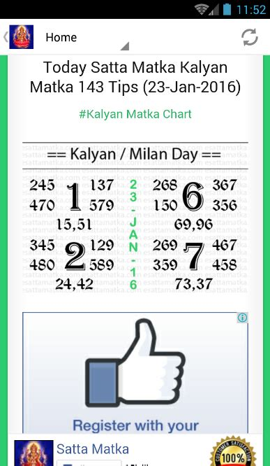 satta matka lucky number chart satta matka kalyan matka android apps on google play