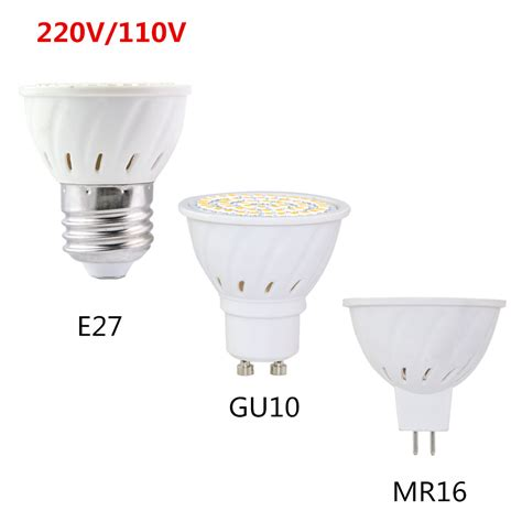 Gu10 Led Light Bulbs Bright Gu 10 Gu10 Led Light Bulb Mr16 Gu5 3 Led L Spotlight 4w 6w 8w 220v 110v 120v