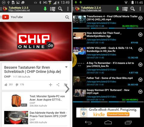 free downloader for android tubemate downloader android app