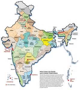 Map If India by India Map Telangana