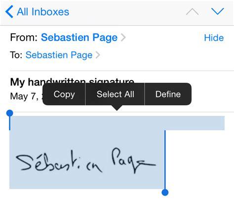 membuat email iphone cara membuat tanda tangan email tangan pada iphone