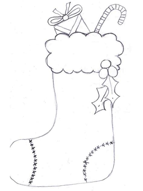 cute stocking coloring page childrens christmas stockings kids coloring