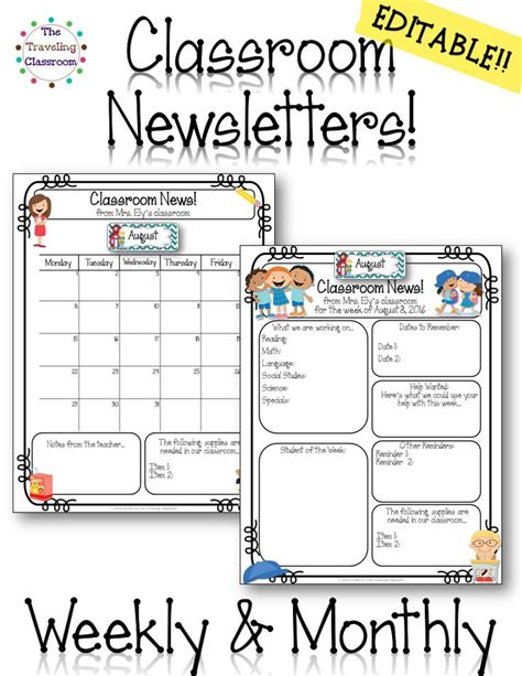 classroom weekly newsletter template 10 best ideas about weekly classroom newsletter on
