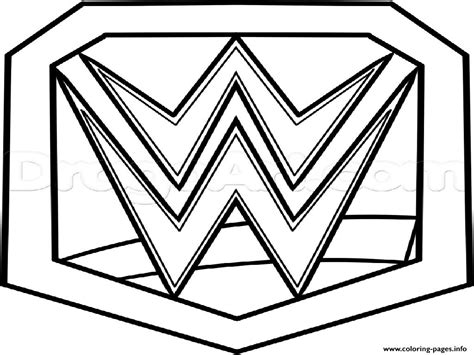 coloring pages wwe belts wwe chionship belt official coloring pages printable