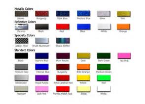 3m pinstripe tape color chart car tuning
