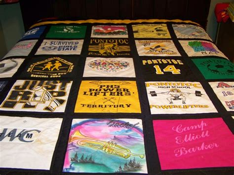 Make Quilt Out Of T Shirts by Recondition Your T Shirt