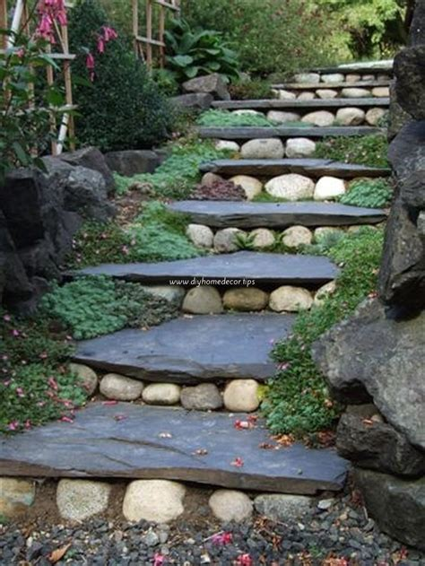 outside steps landscape design garden stairs diy home decor
