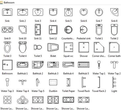 bathroom symbols archi plans architecture symbols