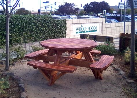 round picnic table with attached benches round picnic tables with attached benches built to last