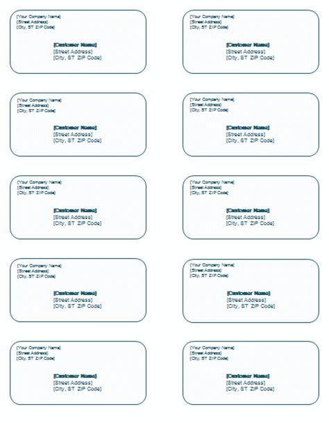 template mailing labels word