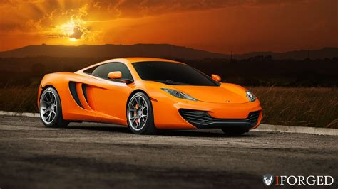 Bright Orange Mclaren Mp4 12c On Iforged Wheels Gtspirit