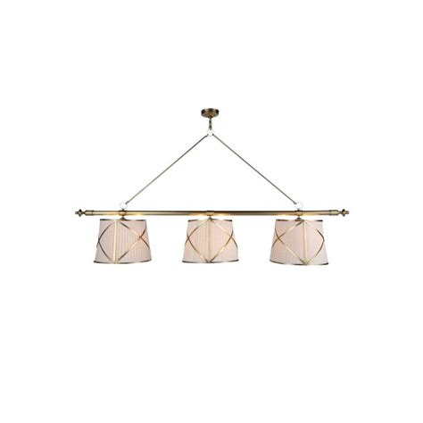 lighting fairmount 6 light burnished brass pendant