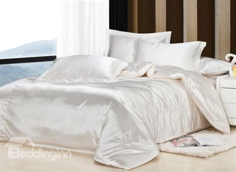 Silk Duvet Cover Sets Noble White 4 Piece Silk Duvet Cover Sets
