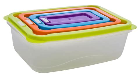 plastic food storage containers with lids clear plastic food lunch boxes nested storage stacking