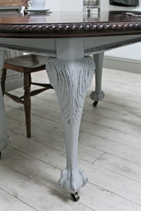 Ornate Dining Table Ornate Extending Dining Table By Distressed But Not Forsaken Notonthehighstreet
