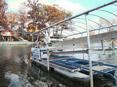 boat dock removal hydraulic work barge tritoon pontoon for boat lift
