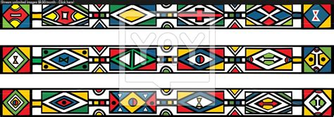 Set Traditional African Ndebele Patterns Vector Stock | set of traditional african ndebele patterns vector