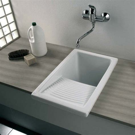clearwater ceramic utility laundry sink inc waste small