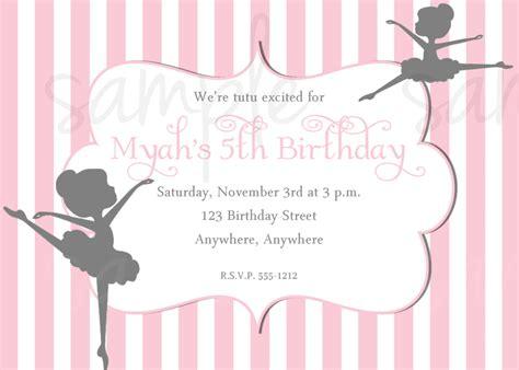 templates for ballerina invitations ballerina birthday invitation