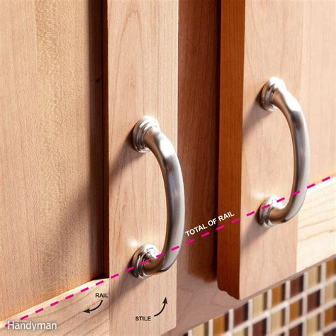how to install handles on kitchen cabinets how to install cabinet hardware the family handyman