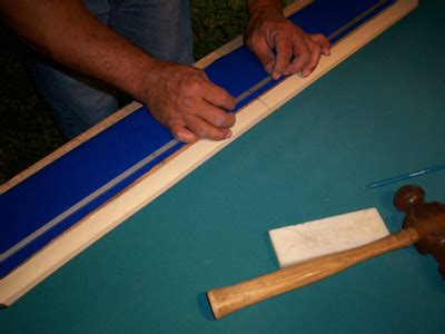 recovering pool table cushions or rails easily and perfectly