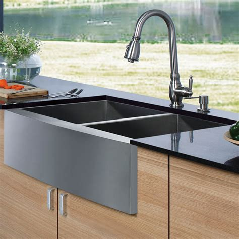 Top Ten Kitchen Faucets 20 quot au courant quot stainless steel sinks abode