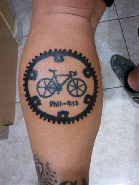 bicycle sprocket tattoo designs those cyclists 40 and bicycle tattoos