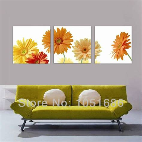 three home decor sale painted modern 3 wall canvas set painting sunflower kitchen decor picture