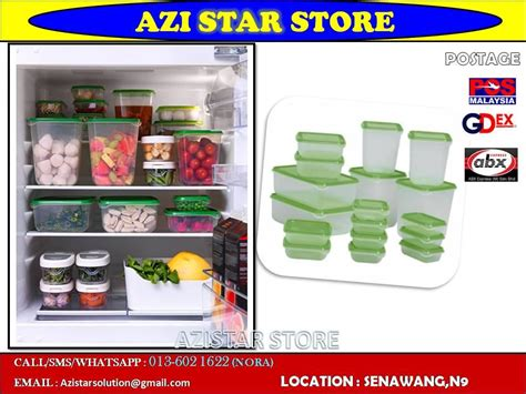 Ikea Pruta 17 Set In One Wadah Penyimpan Transparant ikea pruta food container set of 17 end 7 12 2016 9 15 am
