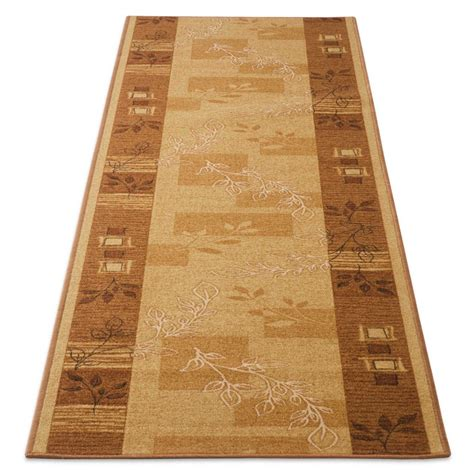 Beige Runner Rug Floral Runner Rug Beige Fully Customisable