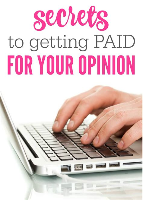 Paid For Your Opinion - 7 secrets to getting paid for your opinion