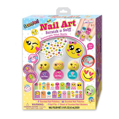 Original Focus Nail Glitz Choking Hazard Nail Kuku Palsu 3d focus emoji scented nail collection toys
