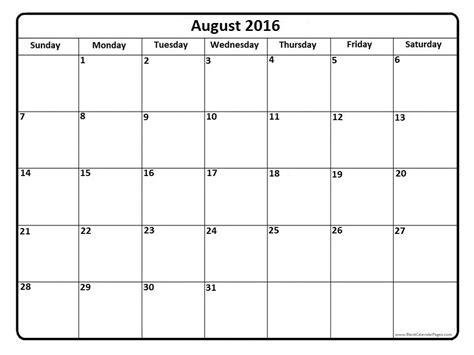 august 2016 calendar august 2016 calendar printable