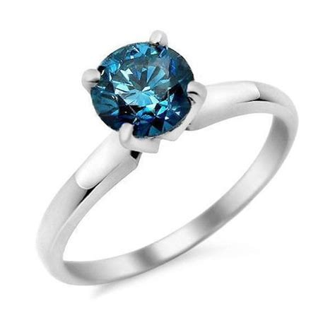 1 carat cut sapphire solitaire engagement ring in