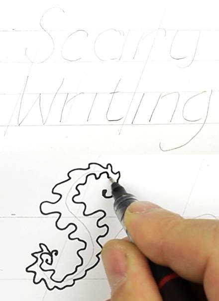How To Draw Scary Writing
