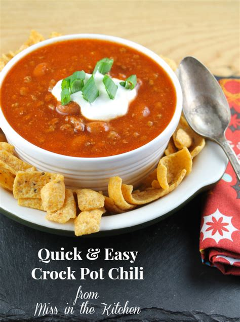 quick easy crock pot chili recipe just a pinch recipes