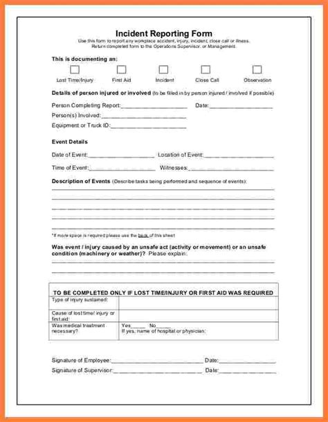 incident report forms templates 9 incident and report form template progress