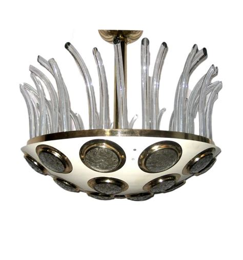 italian light fixtures moderne italian light fixture with glass insets for sale