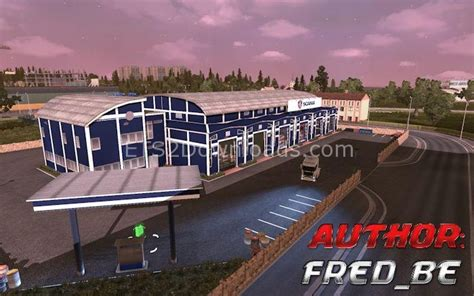 custom large garage ets 2 mods ets2downloads custom scania garage ets2 world
