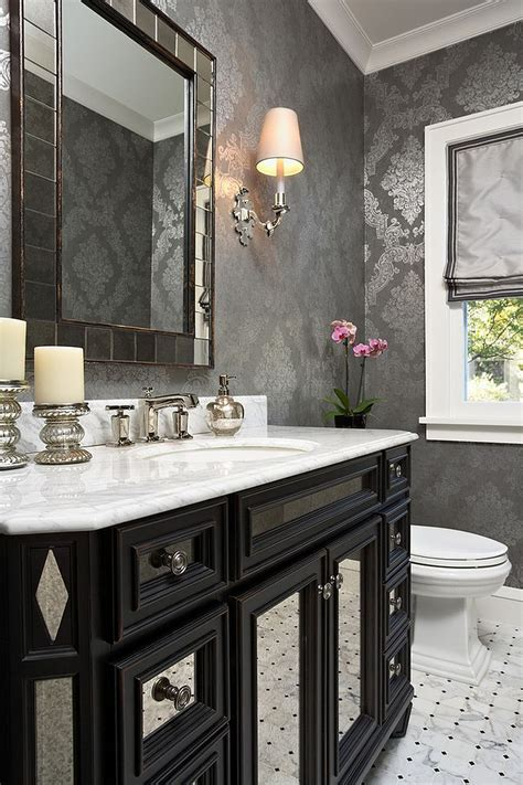 powder room design always on trend 20 powder rooms in black and white