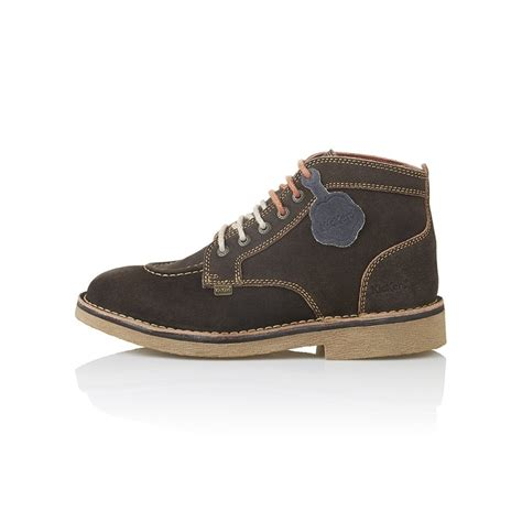Kickers Soft Brown kickers kickers kick legendry mens brown orange suede lace up boot kickers from jelly egg uk