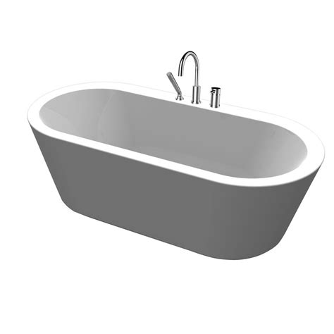 Freestanding Tub With Deck Mount Faucet by Renwil 5 9 Ft Acrylic Freestanding Flatbottom Non