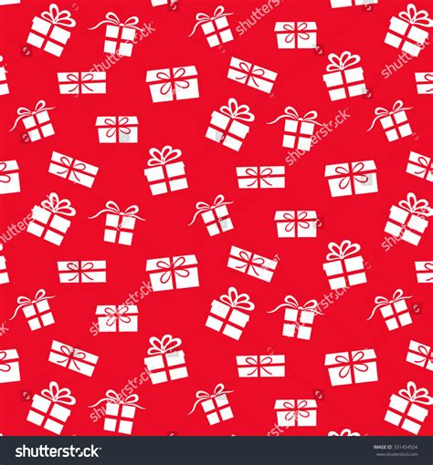 gift pattern background red christmas gift pattern white background stock vector
