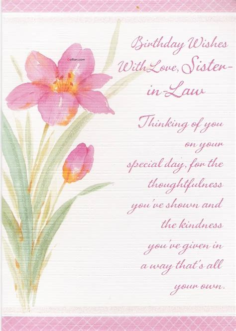beautiful birthday wishes  sister  law  birthday quote images golfiancom