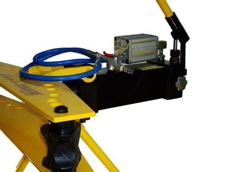compressed air driven hydraulic pipe bender 1 2 quot 2 quot 21 3 60 mm ez tools professional tools