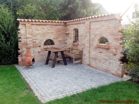 Klinker Mauern Im Garten by Dekofenster Ilios Bilder