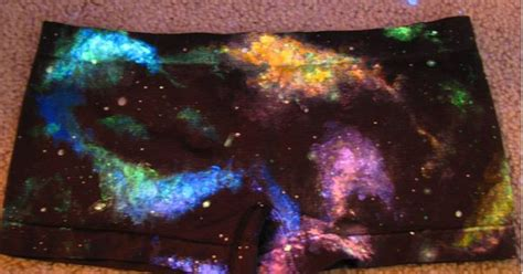 glow in the painted logs galaxy space nebula boy shorts painted uv black