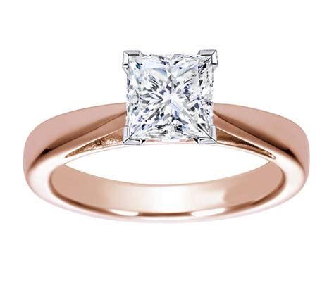 gold princess cut engagement rings ipunya